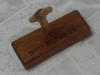 Mahogany wood Ring holder  2 טבעץ