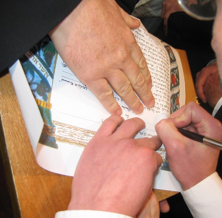 The sign on the Ktubah